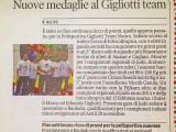 """""""Nuove medaglie al Gigliotti team"""" articolo del 4 novembre"""