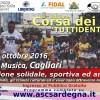 Corsa dei Popoli Tuttidentro 2016, la mattina del 2 ottobre al Parco della Musica, Cagliari