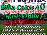 Torneo MasterJunior calcio a11 Infrasettimanale Gennaio 2018