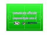 Comunicato Ufficiale CAMPIONATO MASTER Calcio a7 Cagliari 2017-18