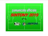 PUBBLICAZIONE COMUNICATO SINTONY 2019 N°10