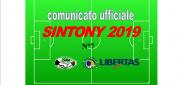 PUBBLICAZIONE COMUNICATO SINTONY 2019 N°7