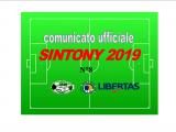 PUBBLICAZIONE COMUNICATO SINTONY 2019 N°8