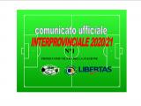COMUNICATO N°1 CAMPIONATO INTERPROVINCIALE 2020 – 2021