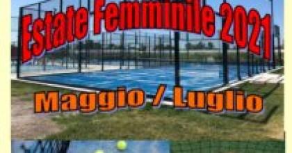 PADEL: 1° Comunicato Trofeo Estate Femminile 2021