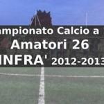 Calcio a 11 Amatori 26 infrasettimanale Campionato 2012-13