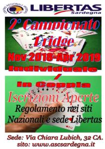 """2 ° Campionato """" Bridge Libertas """" - Individuale @ Cagliari"""
