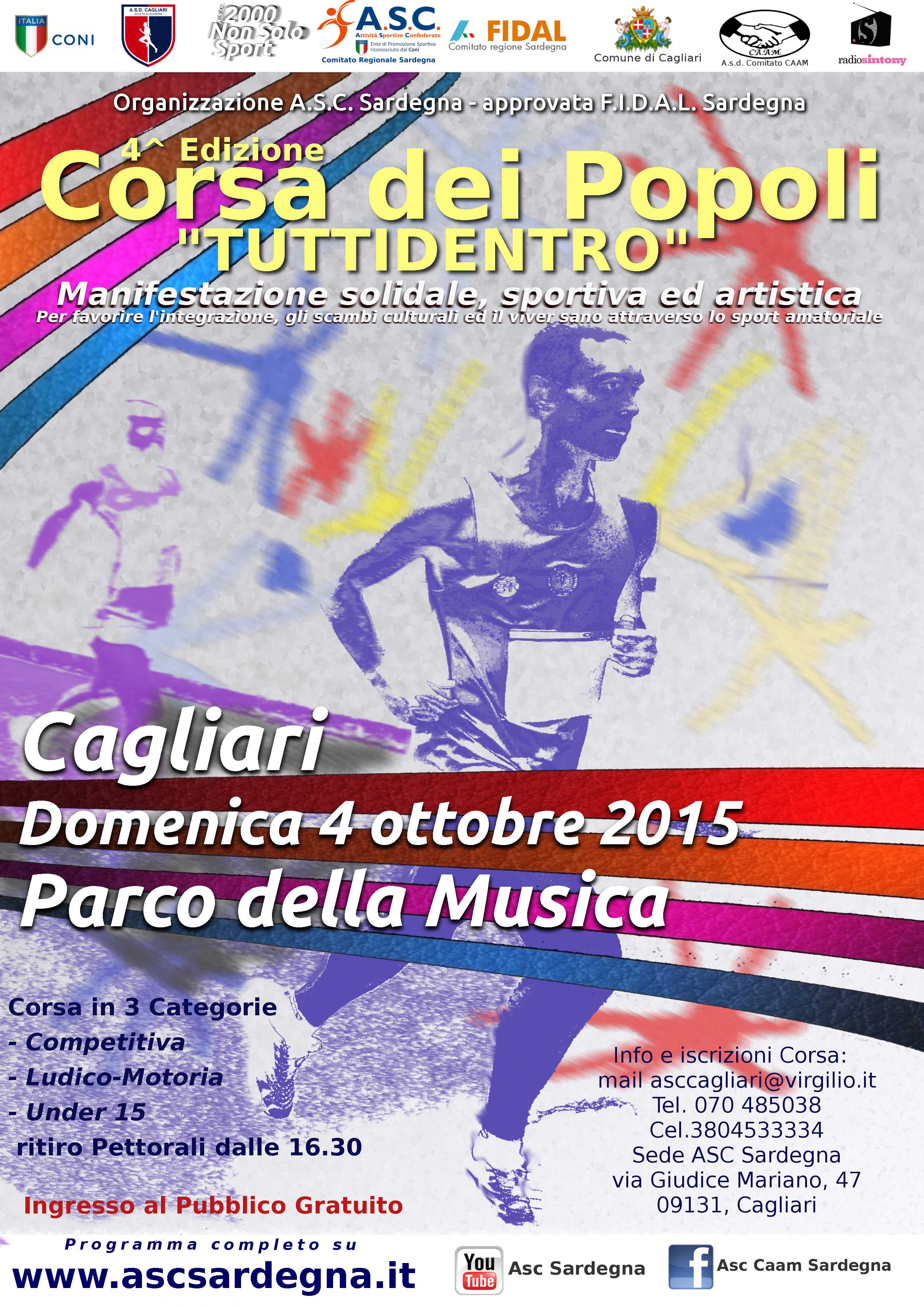 Fidal Sardegna Calendario Gare.4 Edizione Corsa Dei Popoli Tuttidentro