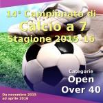 Locandina Campionato Calcio a 7 2015-16
