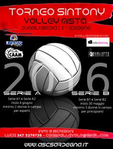 Torneo Sintony PALLAVOLO mista 2016  @ Cagliari