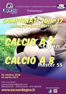 Campionati CALCIO A 7, A 8 Cagliari 2016-17  @ Cagliari e Hinterland