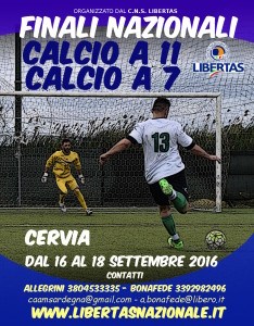 Finali Nazionali 2016 Calcio a 11 e a 7