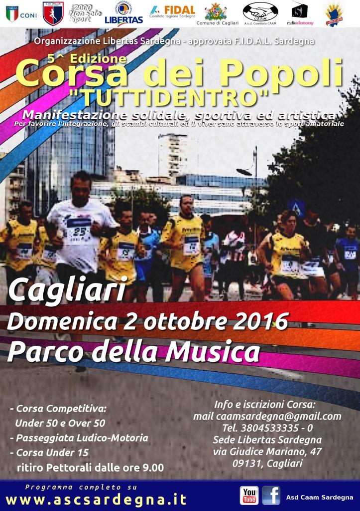 Locandina Corsa dei Popoli ottobre 2016