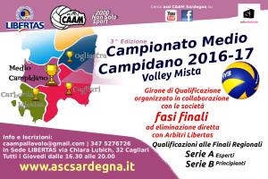 Campionato  PALLAVOLO Mista Medio Campidano 2016-17 | 3^ Edizione @ Cagliari/Medio Campidano