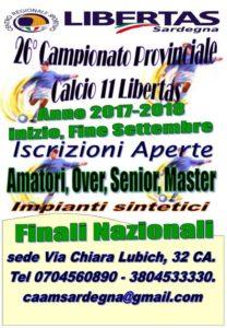 Campionato CALCIO A 11 stagione 2017-18 Provinciale di Cagliari 26° Edizione @ Cagliari e Hinterland