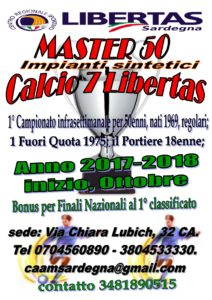 Campionato di Calcio a 7 Master 50 Cagliari 2017-18
