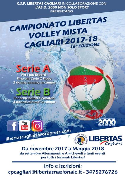 Campionato PALLAVOLO MISTA Cagliari Libertas 2017-18 @ Cagliari