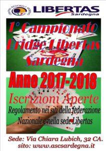 1° Campionato  Bridge Libertas  Sardegna 2017-2018