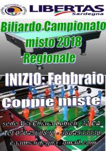 BILIARDO TROFEO MISTO 2018 REGIONALE @ CAGLIARI