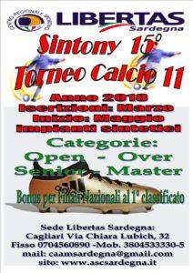15° Torneo Sintony Calcio A11 Stagione 2018 @ CAGLIARI