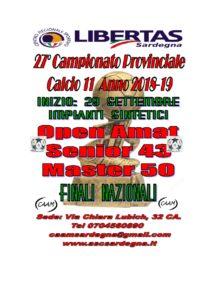 27° Campionato InterProvinciale Libertas    Calcio A11 - Anno 2018 - 19 @ Cagliari e Hinterland