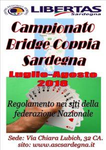 """CAMPIONATO A COPPIA """"BRIDGE"""" SARDEGNA LUGLIO/AGOSTO 2018 @ Cagliari"""