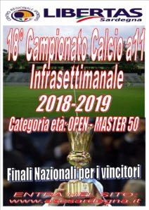 18° Campionato INFRAsettimanale   Calcio A11 - 2018 - 19 @ Cagliari e Hinterland