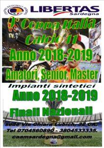 9^ COPPA ITALIA CALCIO A11 stagione 2018/2019 amatori / senior - master @ CAGLIARI E HINTERLAND
