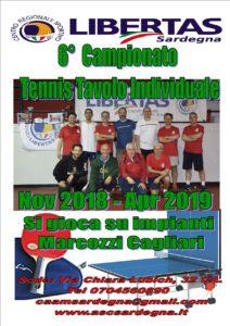 TENNISTAVOLO Singolo 2018-19 Campionato individuale 6° EDIZIONE @ CAGLIARI PALESTRA MARCOZZI | Cagliari | Sardegna | Italia