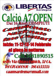 Calcio7 Open Campionato NAZIONALE FASE CAGLIARI 2018-2019 @ CAGLIARI E INTERLAND