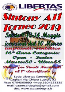 16° TORNEO SINTONY ANNO 2019 CALCIO A11 CAAM LIBERTAS @ Cagliari e Hinterland