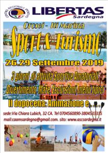 """""""  SPORT & TURISMO  Libertas-Sardegna """"Dal 26 al 29 Settembre  ORGANIZZIAMO SPORT & TURISMO presso il Golfo di Orosei - Località Marina - 08028 - OROSEI - SARDEGNA @ Orosei"""