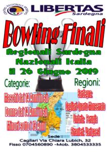 """BOWLING """" FINALI"""" REGIONALI SARDEGNA E NAZIONALI ITALIA 26 GIUGNO 2019"""