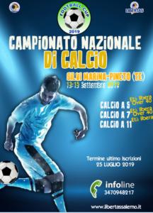 CAMPIONATO NAZIONALE  CALCIO  A 5 -  A7 – A 11 12 o 13-15 SETTEMBRE 2019 SILVI MARINA (TE) - PINETO (TE) @ TERAMO