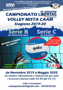 Campionato PALLAVOLO Mista Libertas Cagliari 2019-20 @ Cagliari e Hinterland