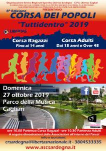 Corsa dei Popoli Tuttidentro 2019 @ Parco della Musica, Cagliari