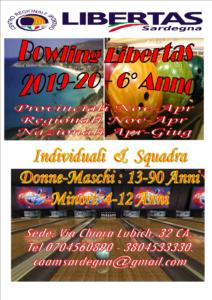 """Bowling Amatoriale """"campionato Provinciale Libertas Cagliari"""" @ CAGLIARI"""