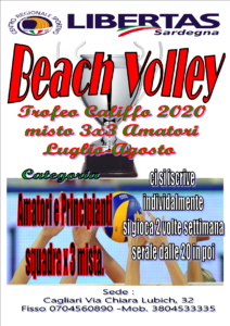 "BEACH VOLLEY ""TROFEO CALIFFO 2020"" @ QUARTU SANT'ELENA"