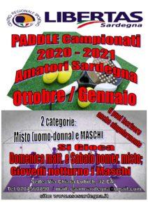 PADDLE-PADEL: Campionato Libertas Sardegna 2020-21! @ CAGLIARI