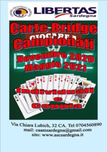 CARTE - BRIDGE: Campionati 2020-21