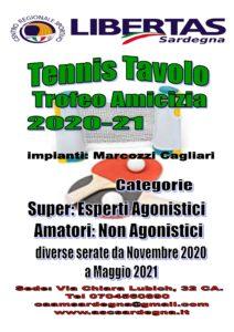 TENNIS TAVOLO: Trofeo Amicizia 2020-21! @ Palestra Marcozzi