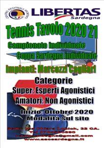 TENNIS TAVOLO 2020/2021 CAMPIONATO E COPPA SARDEGNA