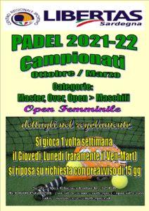 PADEL: CAMPIONATO 2021 - 2022 @ CAGLIARI E INTERLAND