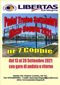 """PADEL TROFEO """"MISTO COPPIA"""" SETTEMBRE 2021 LIBERTAS @ CAGLIARI"""