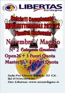 Calcio11 Campionato INFRASETTIMANALE 2021-22  Finalità Nazionale @ CAGLIARI E INTERLAND