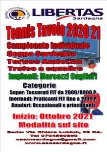 TENNISTAVOLO 2021-22 Campionato InterProvinciale, Coppa Sardegna, Tornei Vari @ CAGLIARI